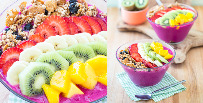 Dragon Fruit Acai Smoothie Bowl