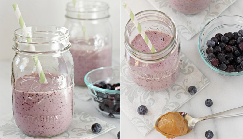Acai and Peanut Butter Smoothie